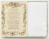 Wedding Collectibles Poetry Hankie From the Groom's Mother to the Bride Wedding Handkerchief