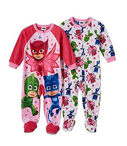 [PJ Masks Owlette, Gekko & Catboy 2-pk. Footed Pajamas Toddler Girl (3T)] (Toddler Annie Costumes)