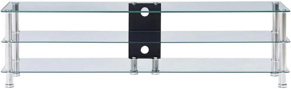 SOULONG Mueble TV LED Mesa para Televisión, Mueble de televisor ...