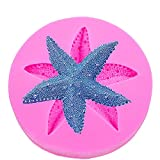 VHLL CAKE MOLDS Starfish shaped 3D fondant cake silicone mold for soap polymer clay molds chocolate pastry candy making decoration tools