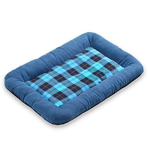 (JEMA Pets Bed Mat Ultra Soft - Cotton Pad Washable Bolster Padding Anti-Slip Mattress for Small Pets & Cats (1 Piece))