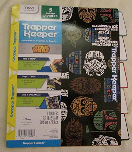star-wars-trapper-keeper-5-tabbed-dividers-by-mead-assorted-designs-colored-tabs