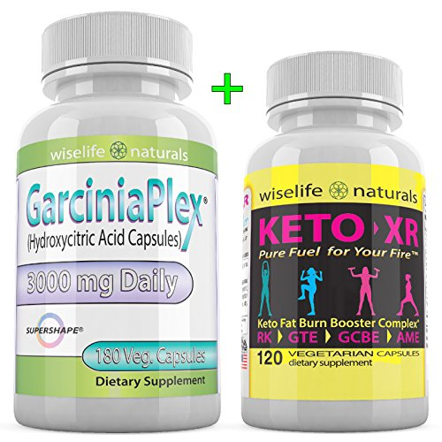 Kit Emotional Support Eating - Strong Fast Acting Weight Loss Diet Kit That Works with Pure Garcinia Cambogia Extract 180 Ct 60% HCA 3000 mg, Pure Raspberry Ketones 60 Ct, Max Strength Boost Metabolism Lose Belly Fat Blocker Pills