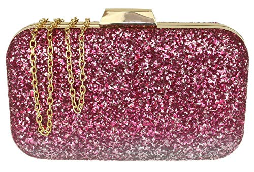 HandBags Gradient Clutch Bag Pink Glitter Girly AnqxdZOgO