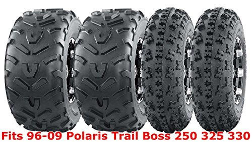 Set 4 WANDA ATV tires 23x7-10 & 22x11-10 96-09 Polaris Trail Boss 250 325 330