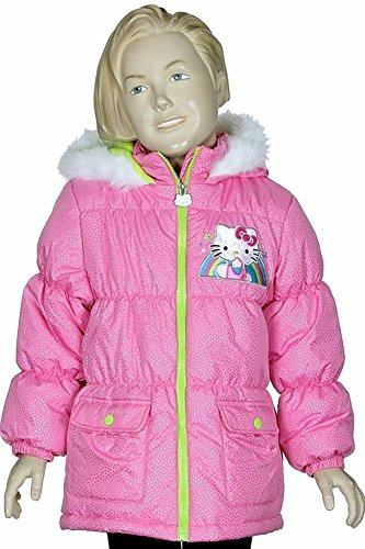 Girls Pink Embroidered Coat - 5