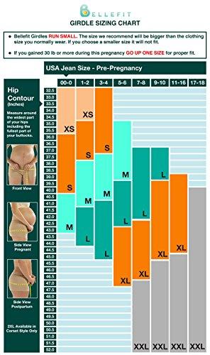 Rückbildungsgurt, Kaiserschnitt Genesung, Wundheilung, Bauchkompresse, - Medizinisches Bellefit Korsett (S)