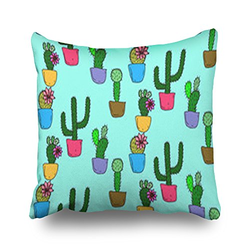 Home Decor Throw Pillow Covers Cactus Texture Textures Objects Square Size 20 x 20 Inches Design Pillowcases Decorative Zippered Cushion Cases