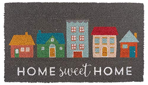 KAF Home Coir Doormat with Heavy-Duty, Weather Resistant, Non-Slip PVC Backing | 17 by 30 Inches, 0.6 Inch Pile Height | Perfect for Indoor and Outdoor Use (Home Sweet Home)