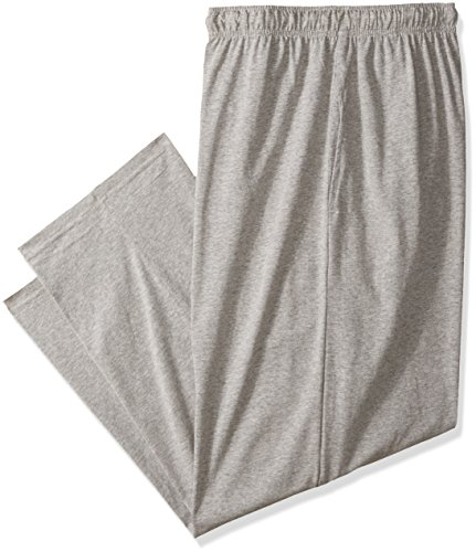 Fruit of the Loom Men's Tall Size Jersey Knit Sleep Pant, Grey Heather, 3XLT (Mens Tall Bottoms)
