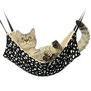Amazon #LightningDeal 64% claimed: Jahoo Cat Hammock - Ideal For Cats, Ferret, Rat, Chinchilla, Rabbit, Small Dogs - Pet Cage Hammock