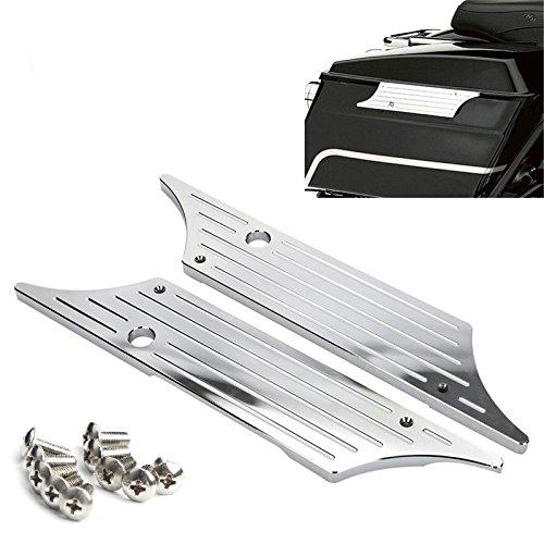 Harley Chrome Bag Latches - 1