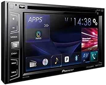 Pioneer AVH-X390BS Double Din Bluetooth in-Dash DVD CD Am FM Car Stereo Receiver with 6.2 Inch Wvga Screen Sirius Xm-Ready