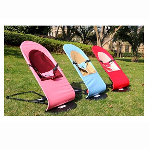 XNYY Kid's Chair Cradle Bed Balance Swings Chair Bouncers Baby Cradle Chair Baby Rocking Chair Entertainment (Color : Black (Summer mesh)) by XNYY (Image #1)