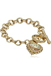1928 Jewelry Gold-Tone Pendant Made with A Heart-Shaped Swarovski Crystal Pendant Bracelet