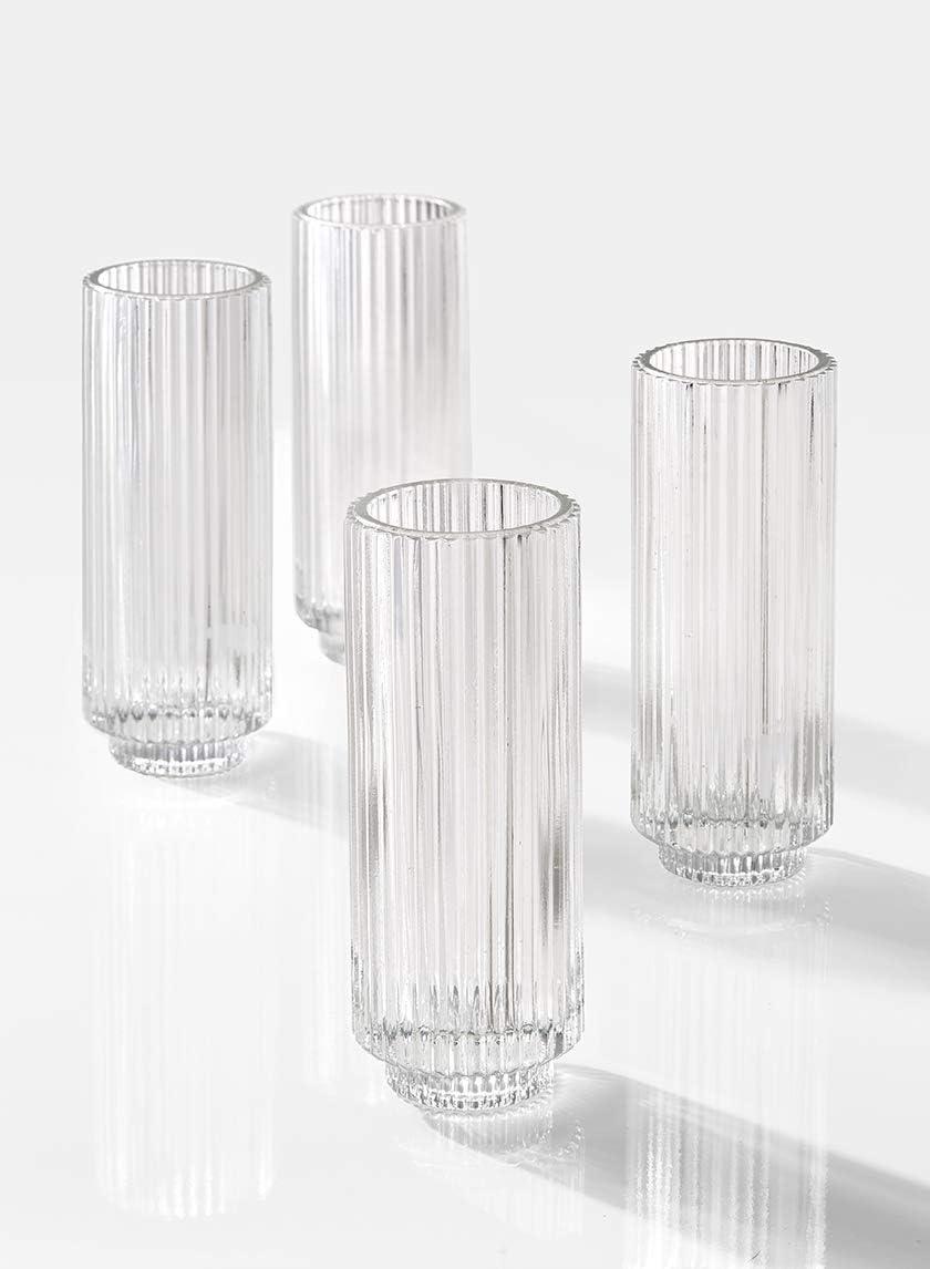 "Peg Votive Holder Glass Mosaic Black with Grommet  3/""Dia x 4.25/""Tall Set of 4"