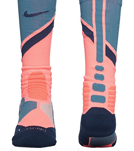 Nike Hyper Elite Basketball World Tour SocksS Small (Navy Elite Nike Socks And Orange)