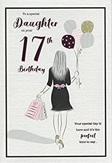 for a special daughter happy 17th birthday card 7404