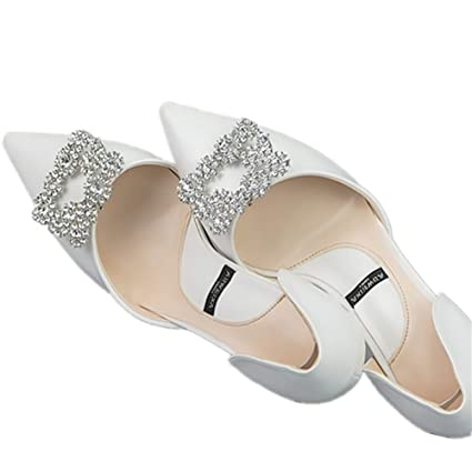 fb377941d1a71 Casualfashion 2Pcs Decorative Shoes Dress Hat Accessories Fashion Square  Rhinestones Crystal Flower Shoe Clips (Silver)