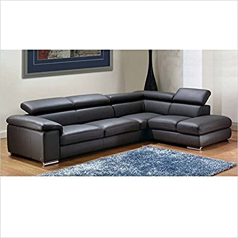 Amazon Com Esf Trading Inc Nicoletti Angel Leather Sectional With