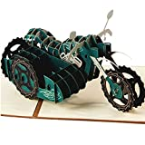 3D Pop Up Greeting Cards Motorcycle Birthday Easter Thank You Christmas Gift