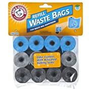 Petmate Arm & Hammer 71040 Disposable Waste Bag Refills, Assorted, 180-Pack