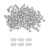 100 X 3Mm Silver Eyelets for Clothing and Leather