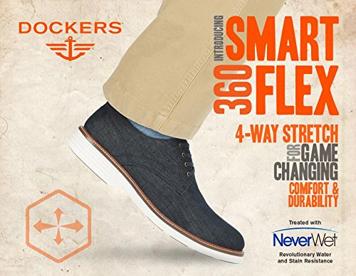 Havenarbeiders Heren Smart 360 Flex Parkway 360 Oxford Schoen Met Neverwet Zwarte Denim