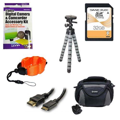 JVC gz-r70ビデオカメラアクセサリーキットIncludes : sd32gbメモリカード、sdc-26ケース、hdmi6fm AV & HDMIケーブル、ZELCKSG Care &クリーニング、gp-22三脚、ze-fs10-orアンダーウォーターアクセサリー   B00IS8RAXQ