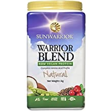 Sunwarrior Warrior Blend Plant Based Organic Protein Natural, 2.2 lbs