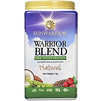 Sun Warrior Warrior Blend Raw Plant-Based Complete Protein Powder ~ Natural ~ 2.2 lbs Bag