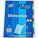 Divisória com 12 divisões A4 - Visor Transparente SORTIDO