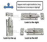 NELXULAS Stainless Steel Door Latch Sliding Lock