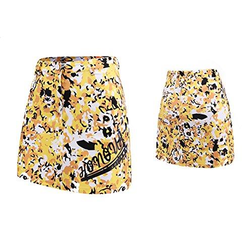 付き添い人情熱有効な[drean dream world] レディースゴルフスカート 柄タイプ GOLFウェア インナーパンツ付き  伸縮性 軽量 通気性