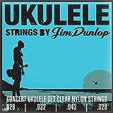 Dunlop DUY302 Concert Pro Ukulele Strings, 4 Strings/Set