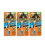 Gorilla Super Glue, 6 g, Clear, (3 Pack)