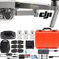 DJI Mavic Pro Platinum Fly More Combo with Custom Nanuk Waterproof Hard Case (Orange)