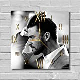 FBA Justin Timberlake 11.8'' Handmade Wall Clock - Get unique décor for home or office – Best gift ideas for kids, friends, parents and your soul mates