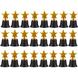 Star Trophies - Pack of 12 Mini Star Awards, Plastic Trophies for Kids