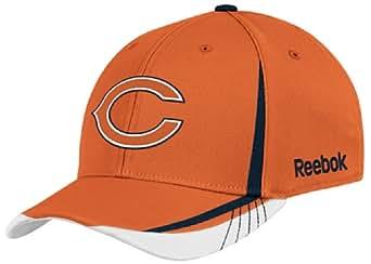 NFL Chicago Bears Sideline Flex-Fit Draft Hat, Orange, Small/Medium