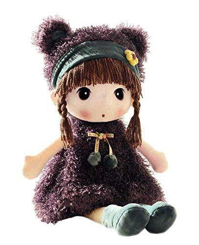 HWD Kawaii 17 inch Stuffed Plush Girl Toy Doll . Good Gift for Kids Baby Lover.(Purple)