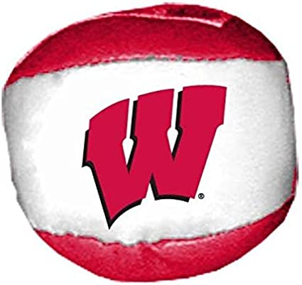 One Size Game Day Outfitters NCAA Wisconsin Badgers 24DP Hackysack Ball Multicolor