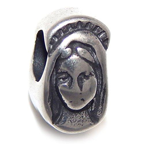 GemStorm Stainless Steel Virgin Mary For European Snake Chain Bracelets
