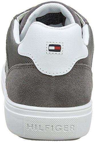 Tommy Hilfiger Herren Lightweight Material Mix Sneaker Grau (Steel Grey 039)