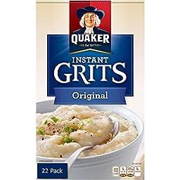 Quaker Instant Grits Original Flavor - Value Pack of 22