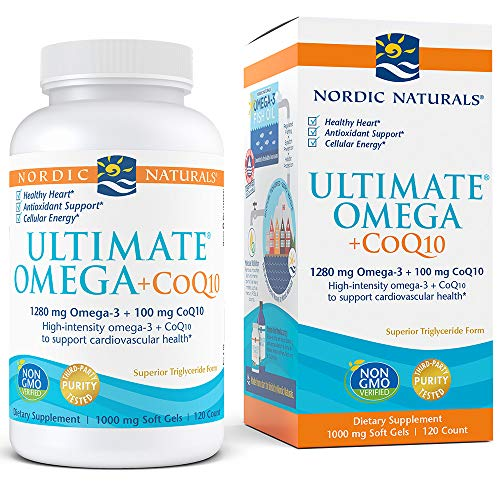 - Nordic Naturals - Ultimate Omega+CoQ10, Support for the Heart + Circulatory System, 120 Soft Gels