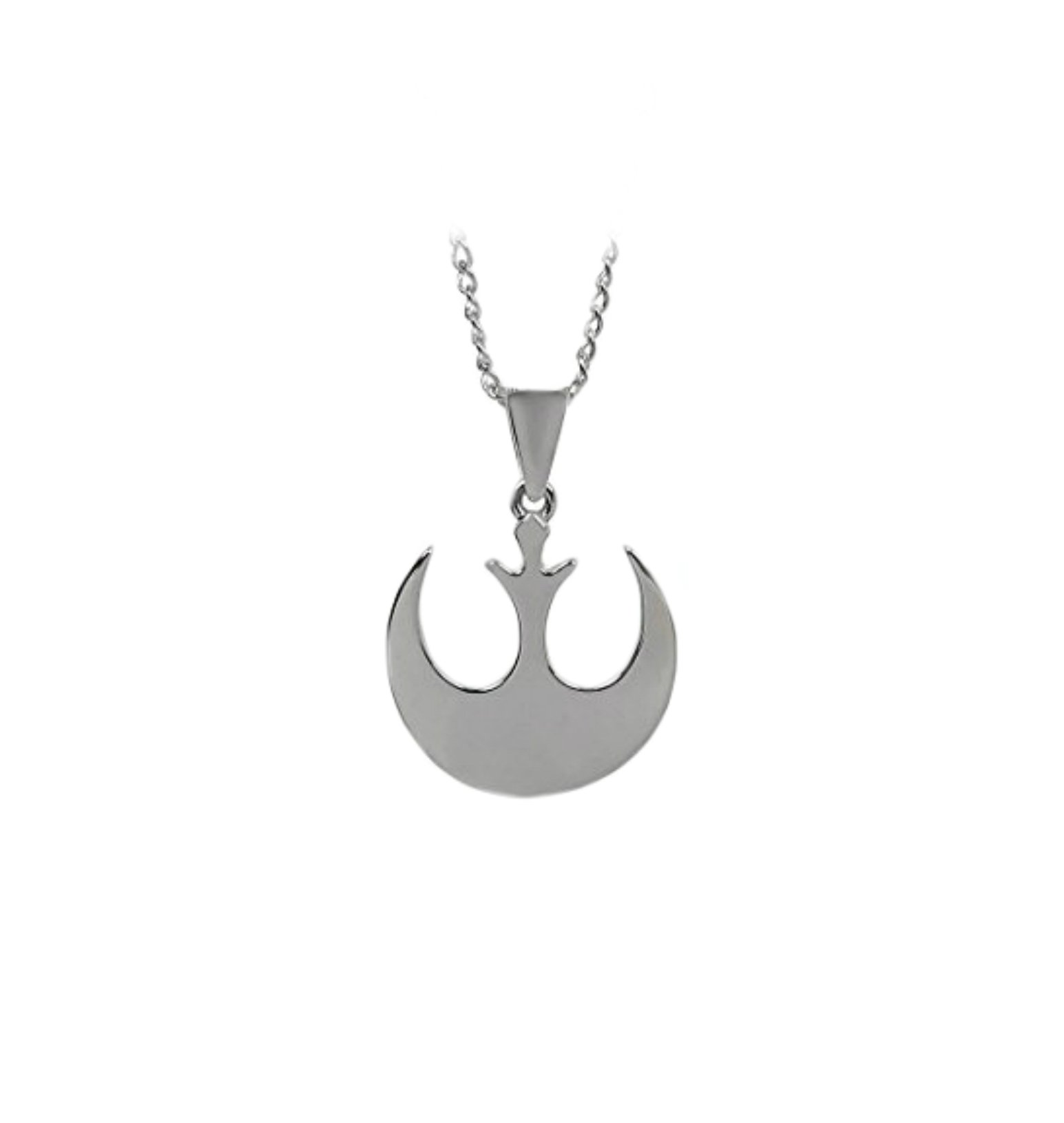 Starwars Necklace Pendant - Silver Rebel Logo - Movies Comics Cartoons Cosplay by Athena Brand
