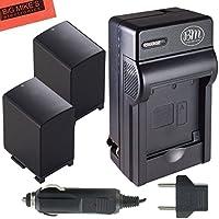BM Premium 2-Pack of BP-828 Batteries and Battery Charger for Canon VIXIA HFG10 HFG20 HFG30 HF G40 HFM30 HFM31 HFM32 HFM300 HFM301 HFM40 HFM41 HFM400 HFS10 HFS11 HFS20 HFS21 HFS30 HFS100 HFS200 HF11 HF20 HF21 HF200 HG20 HG21 XA10 XA20 XA25 Camcorder