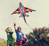"""HONBO 58"""" Fighter Plane Kites for Kids Easy to"""