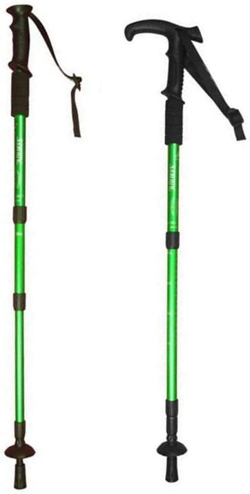 Hillman Pair Trekking Poles, Hiking Walking Sticks, Durable, Lightweight, Folding, Collapsible Telescoping, with EVA Foam Handle.Perfect for Hiking, Walking, Backpacking and Snowshoeing Green